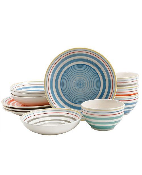 Moody Blues 12 Piece Double Bowl Dinnerware Set
