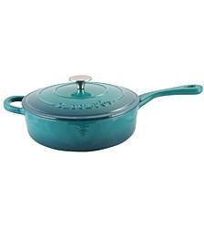 Crock Pot Artisan 3.5 Quart Enameled Cast Iron Deep Sauteacute Pan with Self Basting Lid