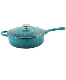 Crock Pot Artisan 3.5 Quart Enameled Cast Iron Deep Sauteacute Pan with Self Basting Lid