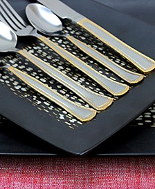 Grand Abby 45 Piece Flatware Set with Handle