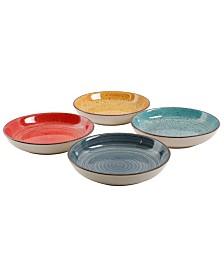 """Color Speckle 4 Piece 10.75"""" Pasta Bowl Set"""