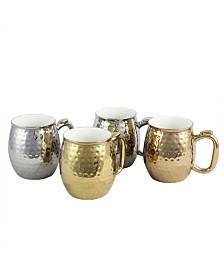 Glimmer 4 Piece 16 Ounce Electroplated Cups