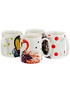 Tropical Animal 15.6 Ounce Mug - Set of 4