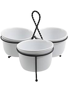 3 Piece Tidbit Dish Set