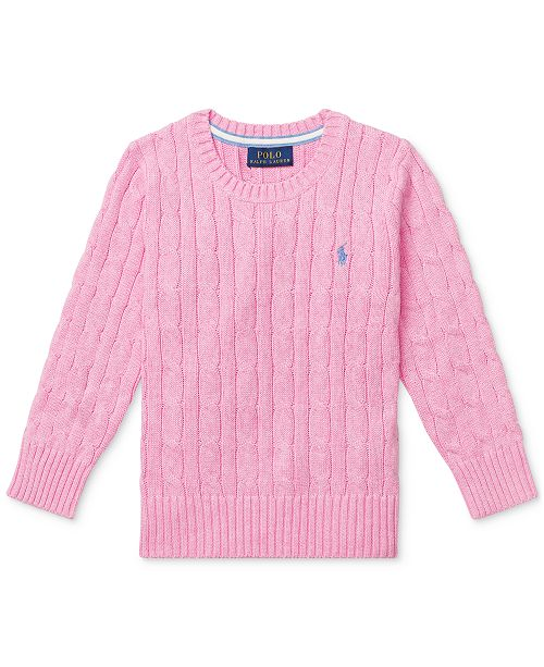 Polo Ralph Lauren Toddler Boys Cable-Knit Cotton Sweater