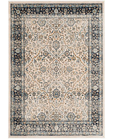 """Safavieh Persian Garden Vintage Ivory and Navy 4' X 5'7"""" Area Rug"""
