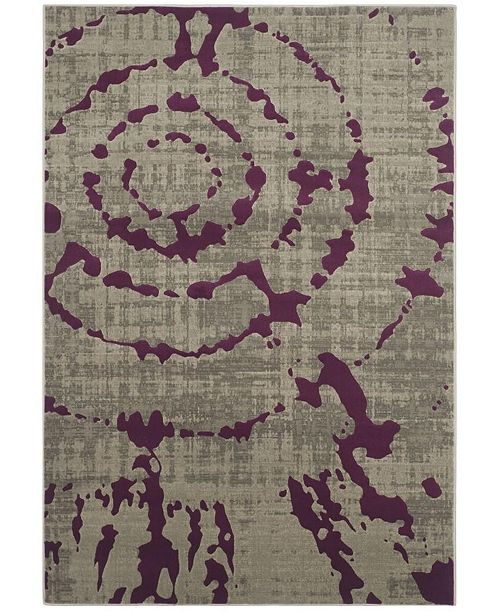 Safavieh Porcello Light Gray and Purple 6' x 9' Area Rug