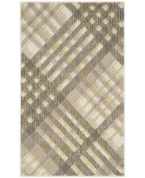 Safavieh Porcello Gray and Dark Gray 3' x 5' Area Rug