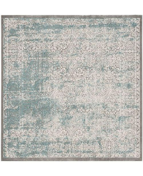 "Safavieh Passion Turquoise and Ivory 6'7"" x 6'7"" Square Area Rug"
