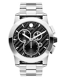 Movado Men's Swiss Chronograph Vizio Stainless Steel Bracelet Watch 45mm 0606551