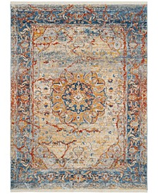 Vintage Persian Blue and Multi 6' x 9' Area Rug