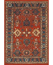 """Safavieh Vintage Hamadan Orange and Blue 6'7"""" x 9' Area Rug"""
