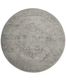 Vintage Silver 6' x 6' Round Area Rug