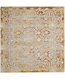 "Palermo Gold and Beige 6'7"" x 6'7"" Square Area Rug"