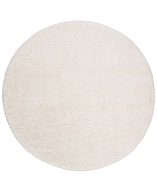 "Royal Ivory 6'7"" x 6'7"" Round Area Rug"