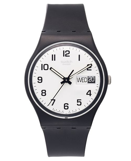 unisex again from fpx watch details product swatch plastic black swiss strap shop once watches