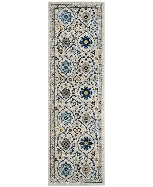 "Safavieh Evoke Ivory and Blue 2'2"" x 7' Runner Area Rug"