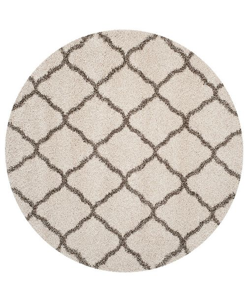 Safavieh Hudson Ivory and Gray 7' x 7' Round Area Rug