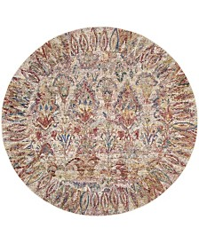 Safavieh Harmony Light Gray and Rose 7' x 7' Round Area Rug