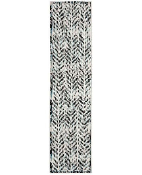 Safavieh Skyler Grey and Blue 2' x 8' Runner Area Rug