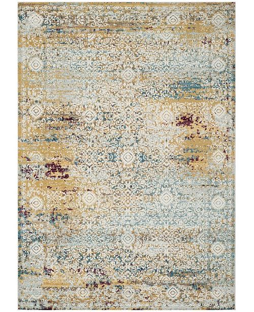 Aria Yellow And Cream Area Rug Collection