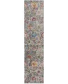 Safavieh Merlot Grey and Multi 2' x 8' Runner Area Rug