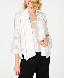 Statement-Sleeve Waterfall Jacket
