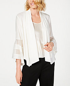 R & M Richards Statement-Sleeve Waterfall Jacket