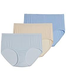 Women's 3-Pk. Supersoft Breathe Drop-Needle Knit Brief Underwear 2373