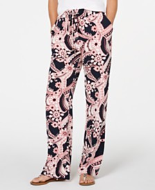 Tommy Hilfiger Paisley-Print Drawstring Pants, Created for Macy's