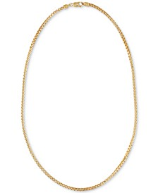 "Double Box Link 22"" Chain Necklace in 14k Gold-Plated Sterling Silver, Created for Macy's"