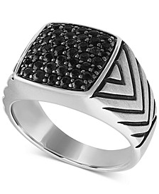 Black Diamond Cluster Ring (1-1/4 ct. t.w.) in Sterling Silver, Created for Macy's