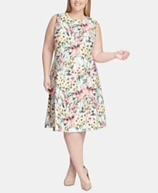 Tommy Hilfiger Plus Size Floral Fit & Flare Dress