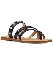Nine West Clara Studded Flat Sandals