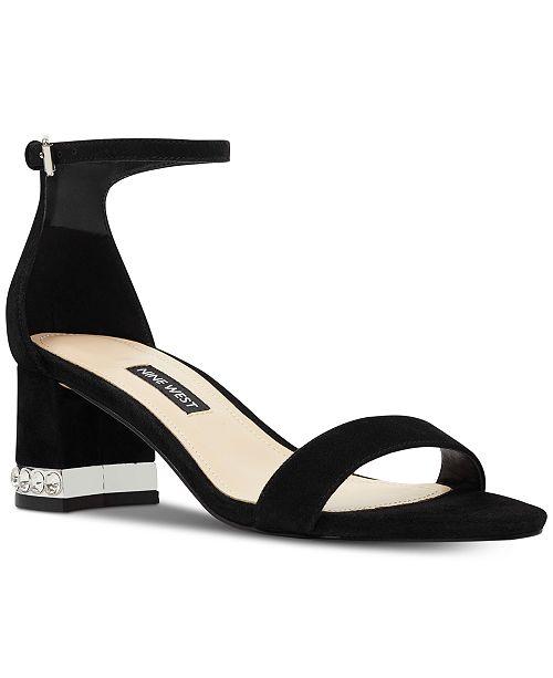 Nine West Hazel Embellished Block-Heel Sandals