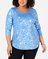 32887f4c299 JM Collection Plus Size Printed Top