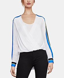 High-Low Faux-Wrap Top