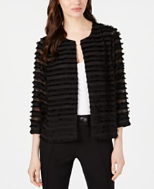Alfani Open-Front Textured Jacket, Created for Macy's