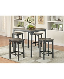 Percie 5-Piece Counter Height Set