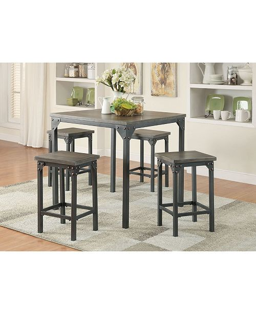 Acme Furniture Percie 5-Piece Counter Height Set