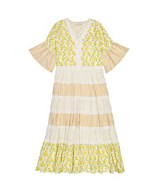 Masala Baby Girls Mara Dress Lemon Blossom