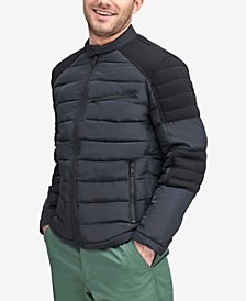 Men's Faux-Down Moto Jacket