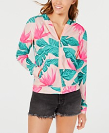 Hurley Juniors' Printed Hooded Rash Guard