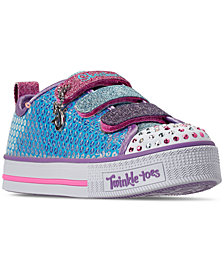 Skechers Little Girls' Twinkle Toes: Twinkle Lite - Mermaid Magic Casual Sneakers from Finish Line