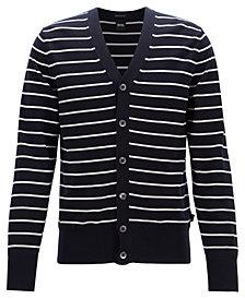 BOSS Men's Faraldi Regular-Fit Striped Cotton Cardigan