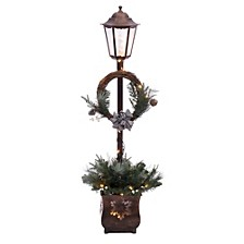 International Pre Lit 4 ft. Christmas Lamp Post with 35 Multi UL listed lights