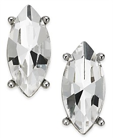Charter Club Silver-Tone Marquise Crystal Stud Earrings, Created for Macy's