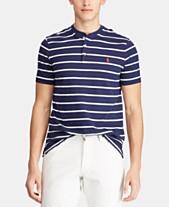 0e5e8b19c23 Polo Ralph Lauren Men s Custom Slim Fit Striped Mesh Henley T-Shirt