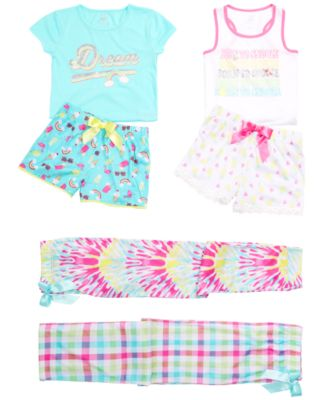 Little & Big Girls Tie-Dyed Pajama Pants, Created for Macy's