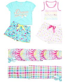 Max & Olivia Little & Big Girls Graphic-Print Pajama Tops, Shorts & Pants, Created for Macy's